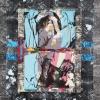 Collage_Lys_aspargus_plastique_calque_Rehaussé_de_peinture_et_paillettes