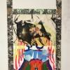 Peinture_réhaussées_de_collages_avec_photo_et_faux_marbreApparition_de_leffigie_du_MesuRAGE